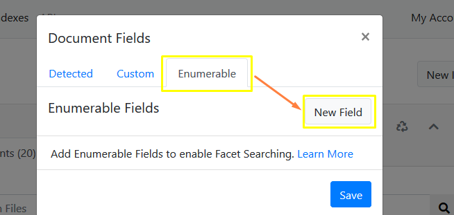 Enumerable Fields Dialog